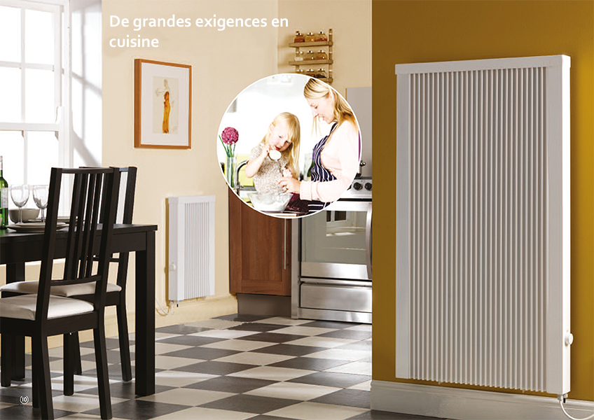 radiateur lectrique inertie pour cuisine elec plus. Black Bedroom Furniture Sets. Home Design Ideas